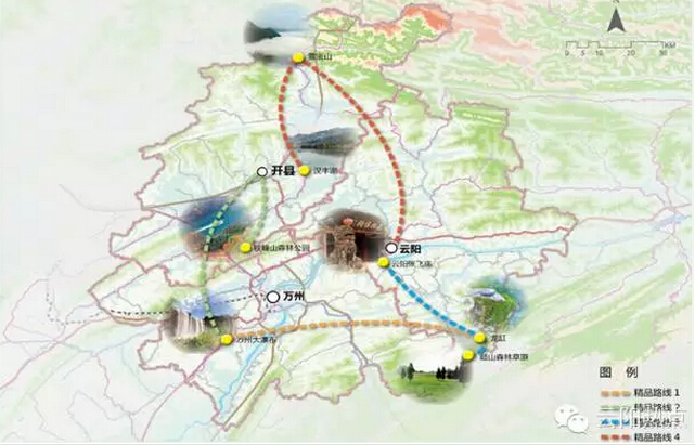 重点旅游资源及线路分布图